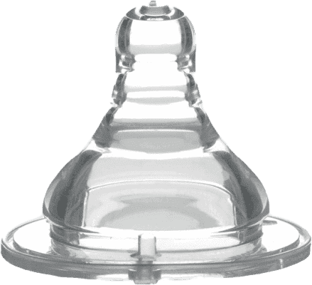 BABY ONO Dudlík široké hrdlo silikon, střední průtok, 3m+