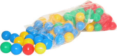 WIKY Farebné plastové loptičky