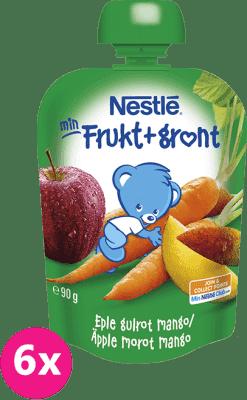 6x NESTLÉ Veggie Jablko, mrkva, mango (90 g) - ovocno-zeleninový príkrm
