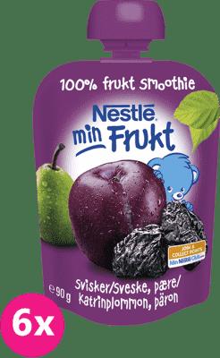 6x NESTLÉ Naturnes Slivka a hruška (90 g) - ovocná kapsička