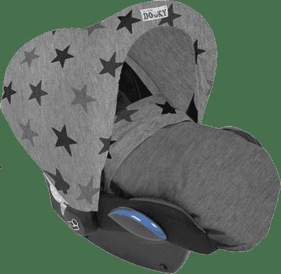 DOOKY Hoody Design strieška Grey Stars