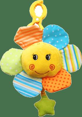 BABY ONO Hračka hudobná na štipci - kvetinka 0m+