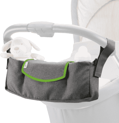 DIAGO Organizer do wózka Deluxe - szara / zielona