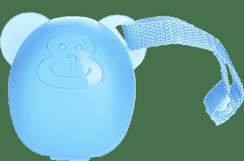 DIAGO Etui na smoczki Małpka niebieska