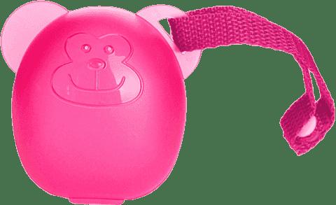 DIAGO Etui na smoczki Małpka różowa