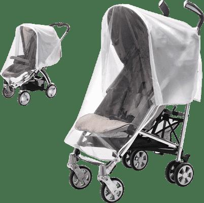 DIAGO Folia przeciwdeszczowa Komfort na wózek sportowy i spacerowy 2w1