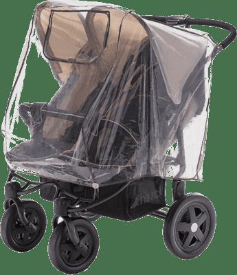 DIAGO Folia przeciwdeszczowa na wózek bliźniaczy – pozycja obok siebie