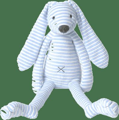 HAPPY HORSE Modrý pruhovaný králíček Reece, 30 cm