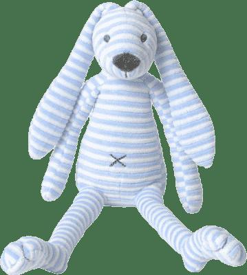 HAPPY HORSE Modrý pruhovaný králíček Reece, 40 cm
