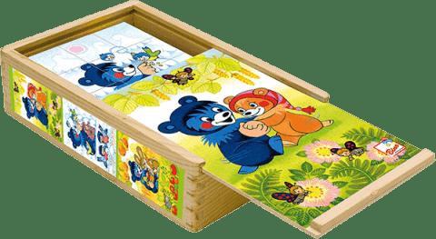 BINO Obrázkové kostky - Baribal, (15 ks)