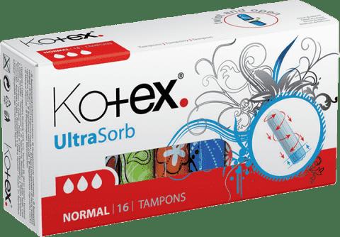 KOTEX 16szt. Tampony Ultra Sorb Normal