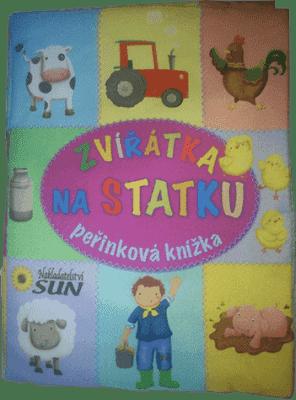 KNIHA Peřinková knížka - Zvířátka na statku