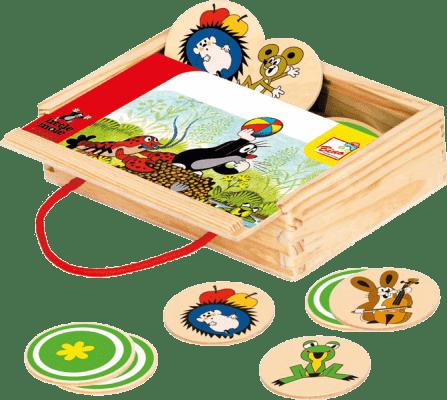 BINO Memo v krabičce - Krtek