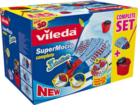 VILEDA Zestaw Mop Supermocio Completo 3 Action Box