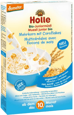 HOLLE Organické junior müsli vícezrnné s kukuřičnými lupínky, 250 g