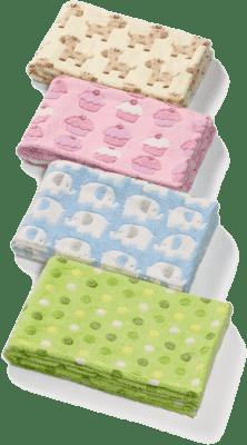 BABY ONO Deka dětská Mikrovlákno, 75x100cm - zelená