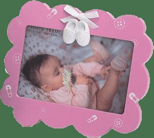 Dekoracyjna ramka na zdjęcia - różowy