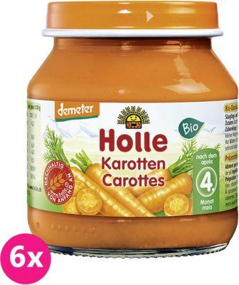 6x HOLLE Bio Mrkva 125 g - zeleninový príkrm