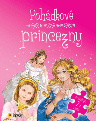 KNIHA Rozprávkové princezné 7 puzzle s rozprávkou