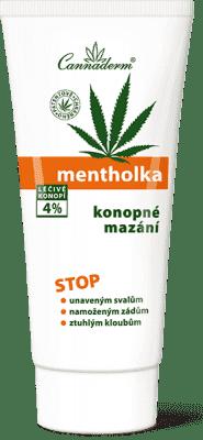CANNADERM Mentholka konopné mazanie 200ml