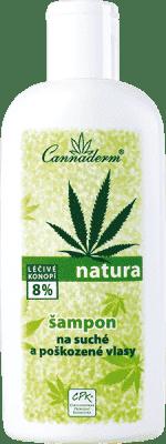 CANNADERM Natura šampón na suché a poškodené vlasy 200ml
