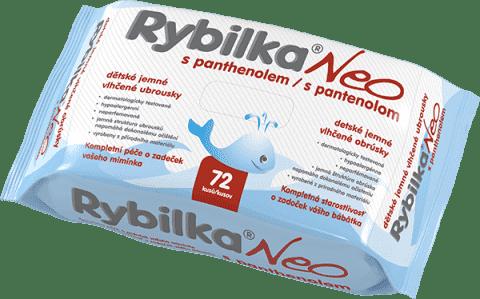 HBFRybilka NEO s Panthenolem 72 ks - vlhčené ubrousky