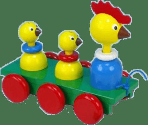MIVA Vacov Zabawka na sznurku trzy kurki