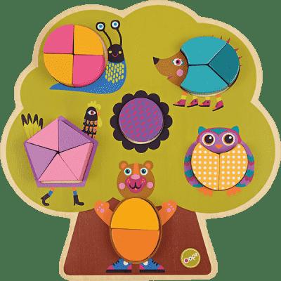 OOPS Wkładane drewniane puzzle Las