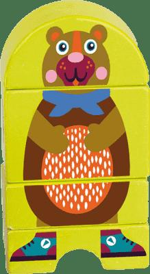 OOPS Drevené magnetické puzzle Medvedík