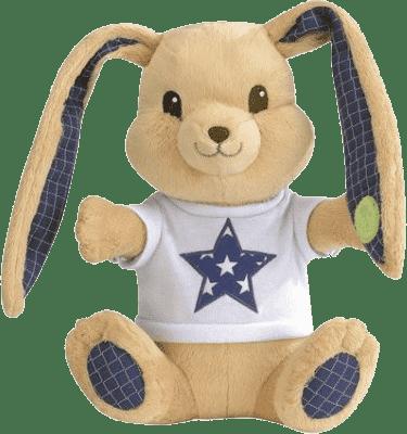 PIOUPIOU MERVEILLES Zajačik Rock 30 cm modrý