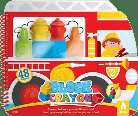 WOOKY Block Crayon Omalovánky hasiči 5ks pastele