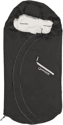 EASYGROW Lite Fusak do kočárku z bavlny a bambusu, Black
