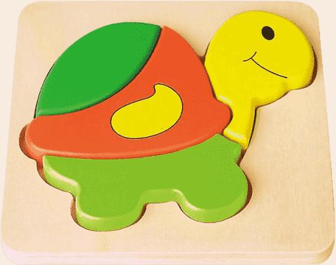 STUDO WOOD Puzzle żółw