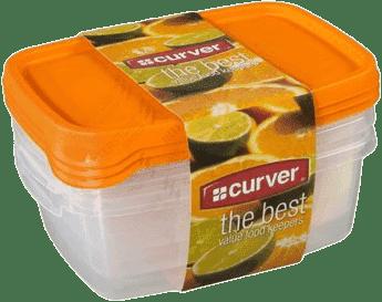 CURVER Dózy na jedlo Food Set Mix 3 x 1.2l, oranžová