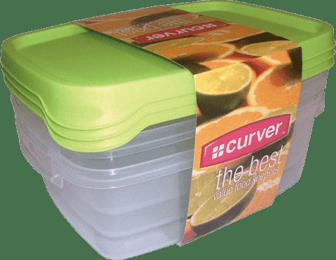 CURVER Dózy na jídlo Food Set Mix 3 x 1.2l, zelená