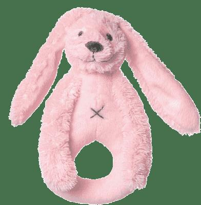 HAPPY HORSE Růžový Králíček Richie Chrastítko, 18 cm