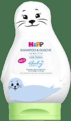 HIPP Babysanft Šampón na Vlasy & Tělo (LACHTAN), 200 ml