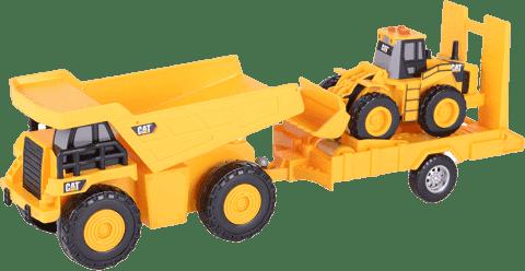 NIKKO CAT Ciężarówka z przyczepą i koparka, 37cm