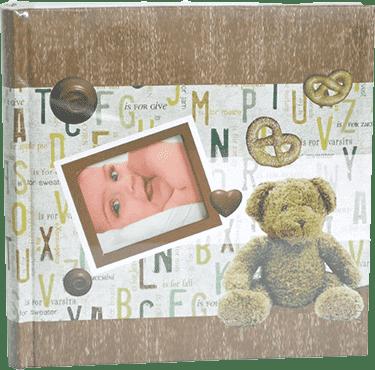FOTOALBUM detský 10x15/200 foto – hnedý