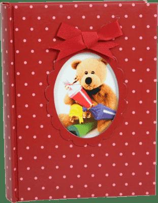 FOTOALBUM dětské 200 fotografií (10x15cm) - červené