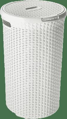 CURVER Kôš na bielizeň okrúhly Natural Style 48l, biely