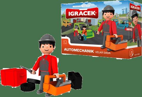 IGRÁČEK Automechanik duży zestaw