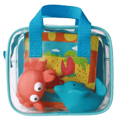 LUDI Hračky a kniha do koupele – modrá