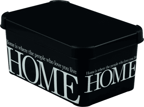 CURVER Úložný box Home White / Black S