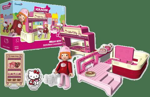 IGRÁČEK & HELLO KITTY Kelnerka z kawiarnią i akcesoriami