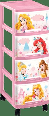 CURVER Regał z szufladami (kółka) Frozen, 4x10l