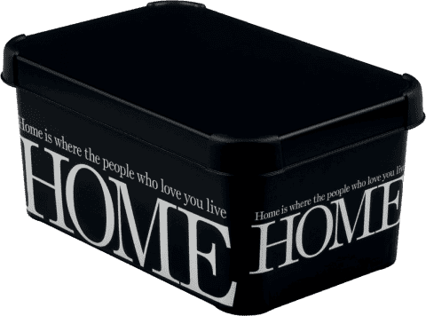 CURVER Úložný box Home White/Black L
