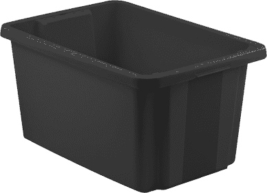 CURVER Pudełko do przechowywania z wiekiem Essentials 45l, czarne