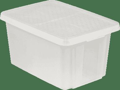 CURVER Úložný box s vekom Essentials 45l, priehľadný