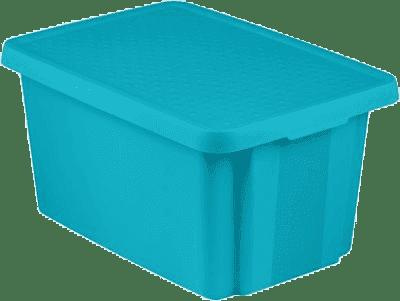 CURVER Pudełko do przechowywania z wiekiem Essentials 45l, niebieskie